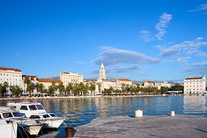 City of Split Skyline in Croatia