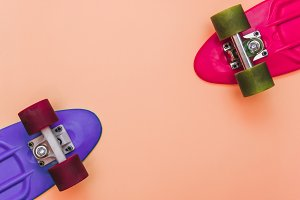 Pink and Purple Skateboards