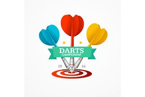 Darts Sign Set. Vector