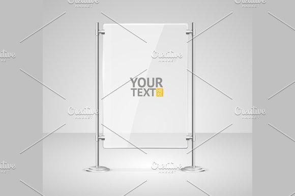 Glass Screen Banner Set. Vector - Illustrations