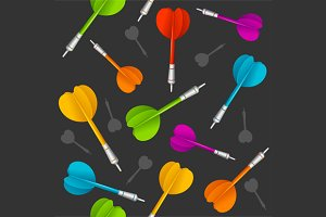 Darts Background Pattern. Vector