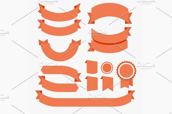 Ribbons Flat Design Set. Vector - Objects