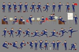 businessman in a blue suit. vector