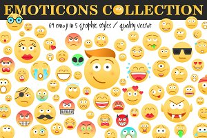 Emoticons Collection / 64 Emoji