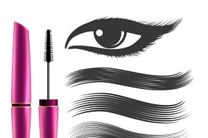 Woman black mascara