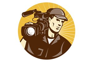 Cameraman Film Crew Pro Video Movie