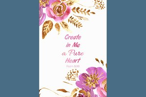 №144 Quote Create in Me a Pure Heart