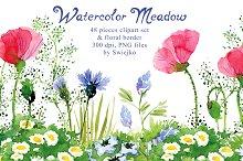 Watercolor Meadow clipart