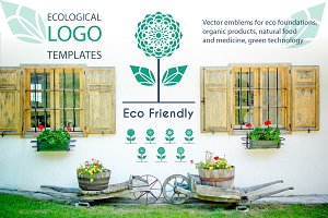 Ecological logo templates