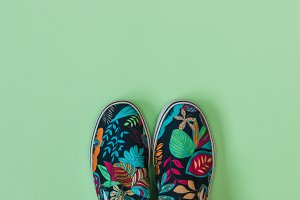 shoes with palm