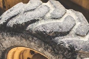 Old bulldozer tire