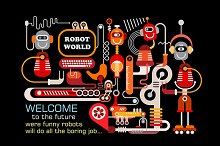 Future World Vector Illustration