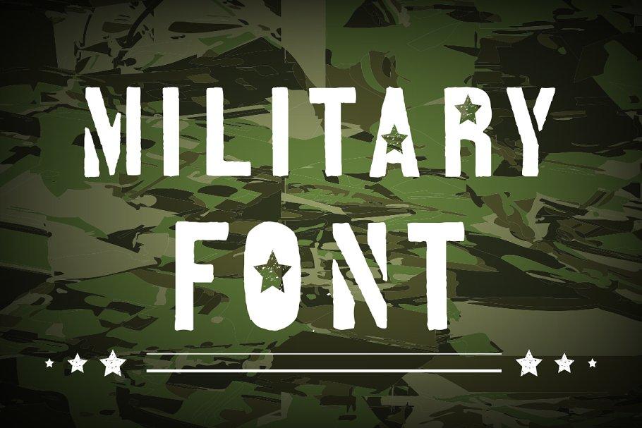 Military font.