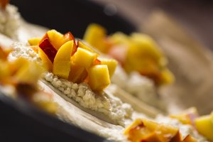 Puff pastry with peach