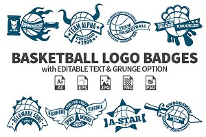 Basketball Logo Badges