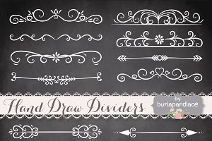 Hand Drawn flourishes dividers