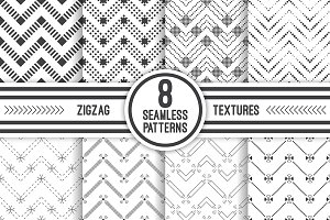 Geometric zigzag seamless patterns