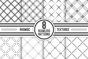 Geometric rhombic seamless patterns