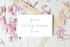 Floral Stationery Mockup