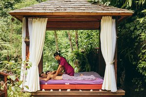 Outdoor body massage spa center