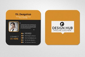 Mini Social Business Card Template