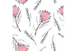 Seamless Protea Pattern