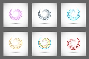 Set abstract color circle