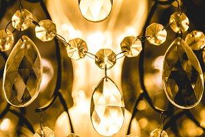 Crystal of chandelier light