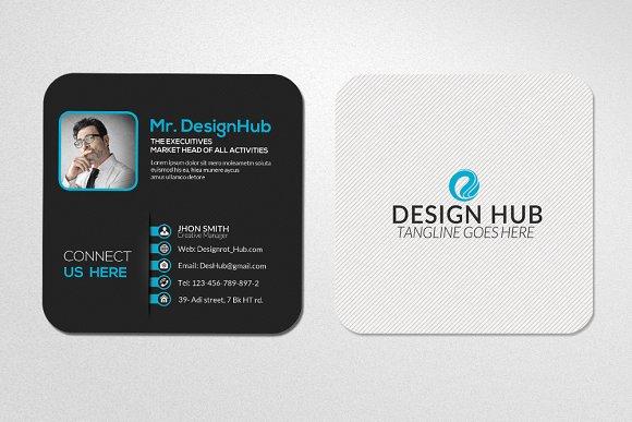 Mini social business card template card templates for Mini business cards template