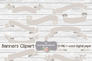 Rustic banner clipart