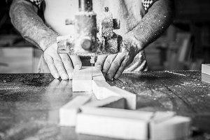 hands man working