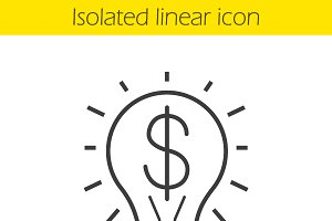 Business idea linear icon. Vector