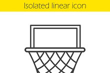 Basketball hoop linear icon. Vector