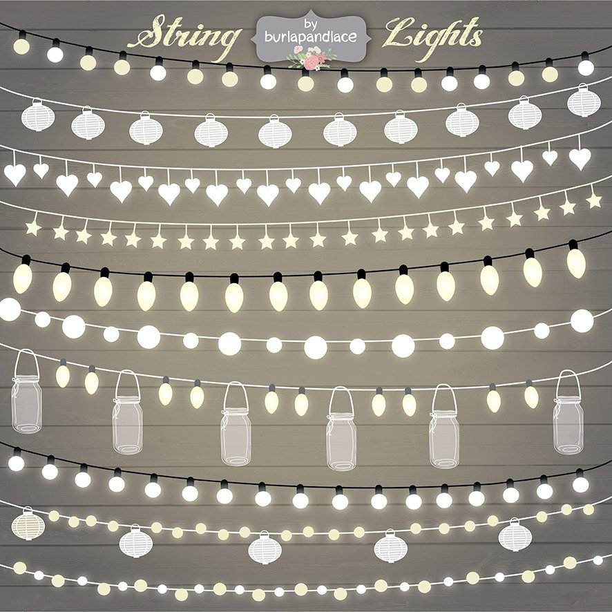 String Lights Clipart Illustrations Creative Market