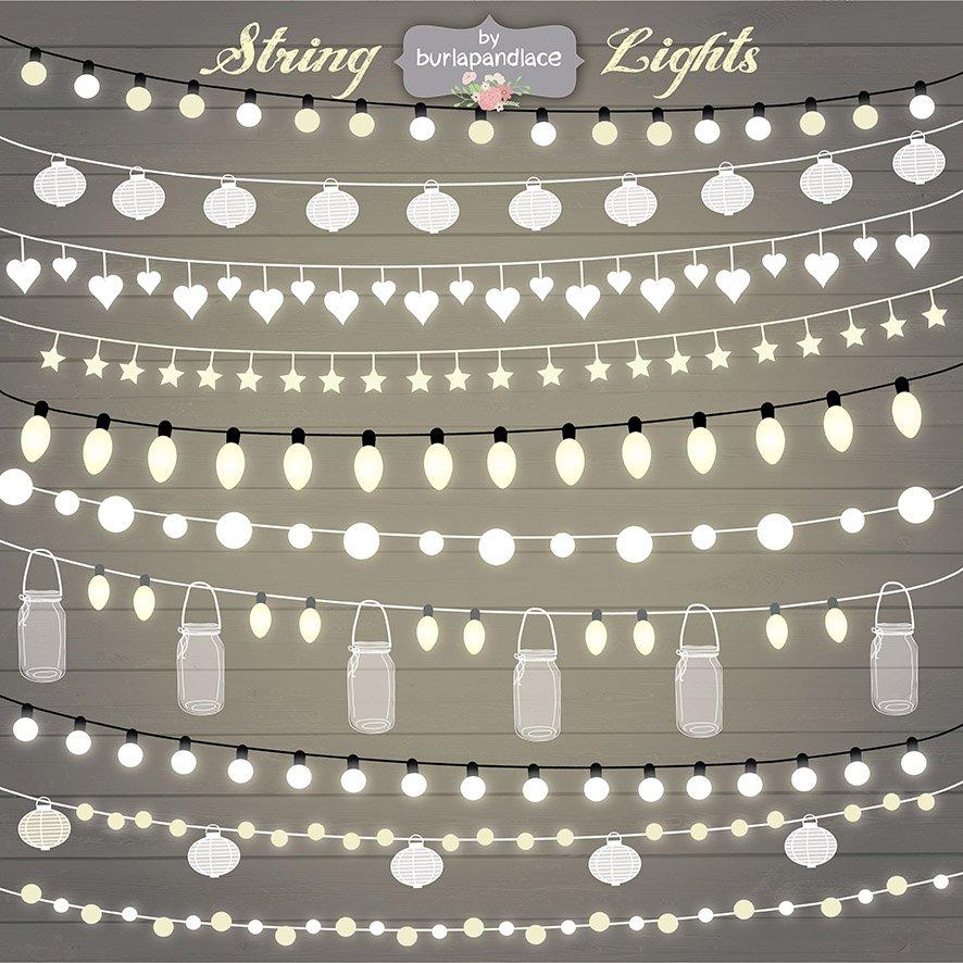 String Lights Clipart Illustrations Creative Market