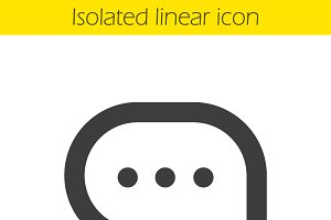 Chat bubble linear icon. Vector