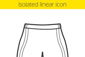 Sport shorts linear icon. Vector