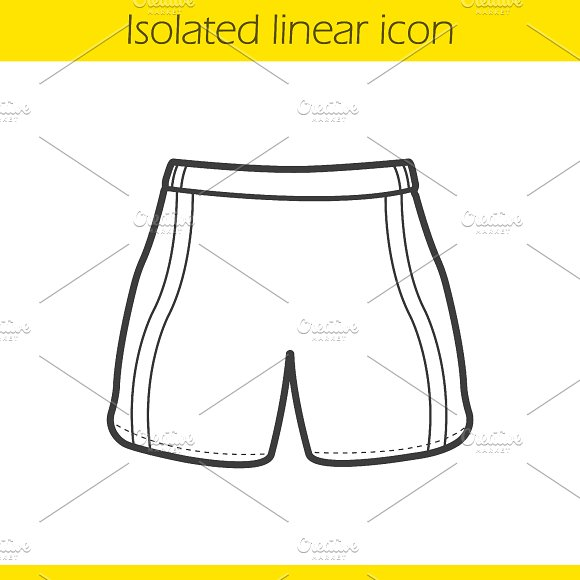 Sport shorts linear icon. Vector - Icons
