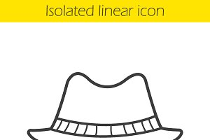 Men's hat linear icon. Vector