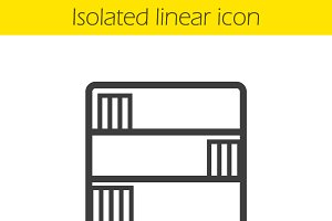 Bookcase linear icon. Vector