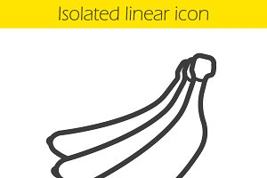 Bananas linear icon. Vector