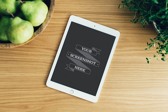 iPad Pro White Kitchen Mockup