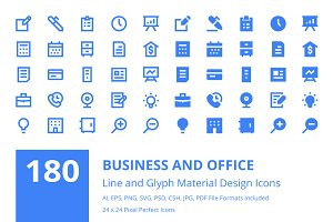 180 Business and Office Icons