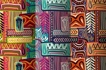 3 Colorful African Patterns