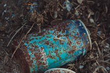 Rusty beverage cans