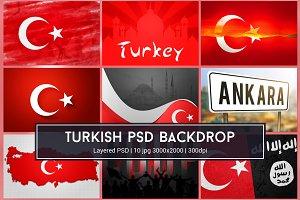 Turkish Background PSD