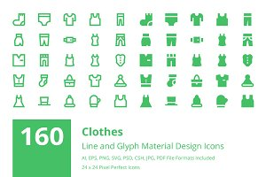160 Clothes Material Design Icons