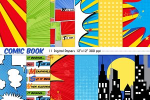 Comic Book Digital Papers