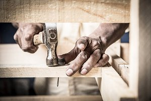 man hand working