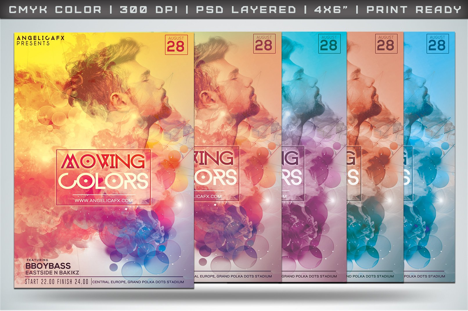 moving colors flyer templates creative market. Black Bedroom Furniture Sets. Home Design Ideas